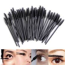 1/10PC Eyelash Brush Eyelash Roller Head Black Disposable Mascara Cosmetic Tools Makeup Brushes Professional Make Up Tools Women(China)