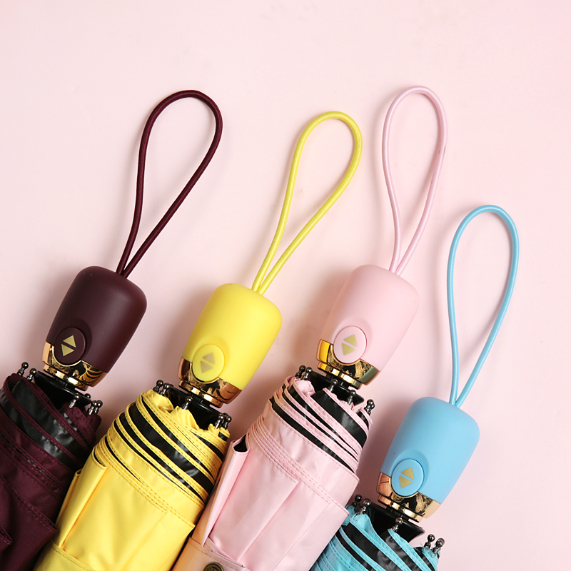 8 Colors Automatic Black Coating UV Umbrella Women Parasol Sombrilla Paraguas Para Autos Mujer Guarda Sol Sonnenschirm