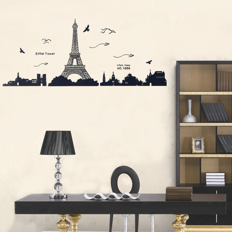 Eiffel Tower Wall Decor paris wall decor promotion-shop for promotional paris wall decor