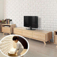 Imported Deep Embossed Wall Stickers Home Decor Waterproof 3D Wall Stickers Brick Stone Pattern Wall Decorations