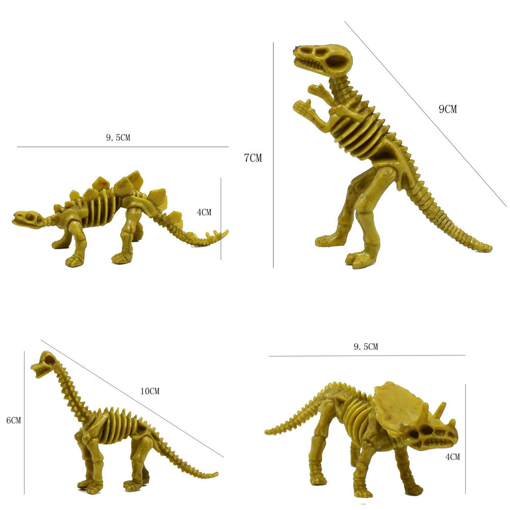 4pcs Simulation Animal Dinosaur Tyrannosaurus Stegosaurus Skeleton Toy For Kid Child Educational Pretend Play Toy Baby Children Sale Price Learning & Education