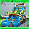 Nuevo diseño barato liquidación utilizado piscina, tobogán inflable, tobogán inflable con piscina en venta