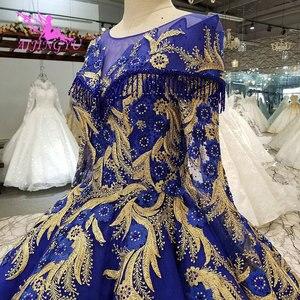 Image 3 - AIJINGYU אופנה חתונה שמלות יפה שמלות כדור סין מערבי כלה שמלות את שמלת חתונת שמלה עם Sheer חזרה