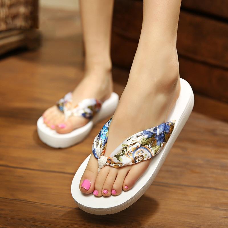 Women Slippers Summer Bohemian Flip Flops Women Beach Sandals Fashion Slippers Ladies Shoes Plus Size