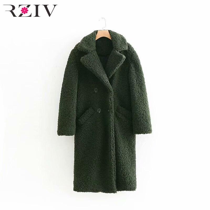 Casual Double breasted Et Solide Doux Femmes Automne De D'hiver Couleur Vert Manteau Rziv xYnwzUvq5