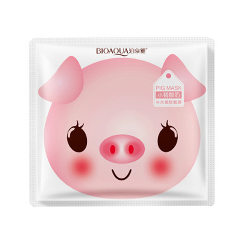 Bioaqua Yogurt Piggy Face Mask Skin Care Anti Aging Moisturizing Oil Control Whitening Korean Mask #5