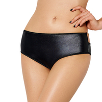 Plus Size Latex Erotische Ondergoed Zwarte Sexy Slips Met Ketting Pron Lederen Sexy Ondergoed Erotische T Broek Sex Product