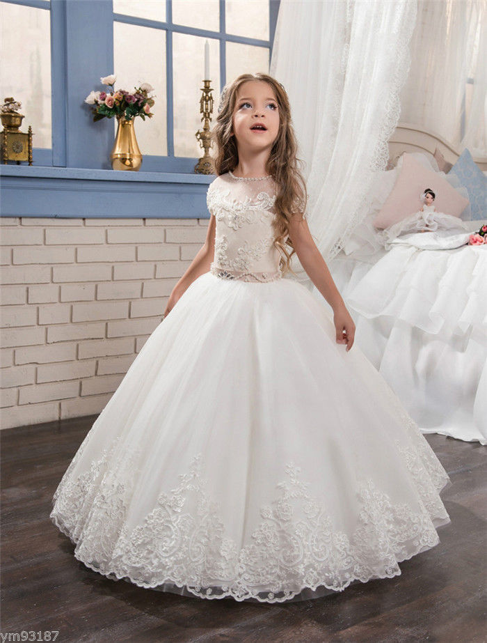 Communion Party Prom Princess Pageant Bridesmaid Wedding Flower Girl Dress new flower girl dress party prom princess pageant communion bridesmaid wedding girl party dress