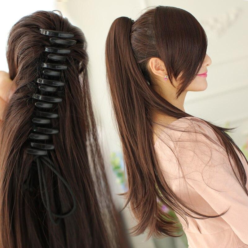SHANGKE 24 '' Длинный прямой конский хвост - Синтетические волосы - Фотография 5