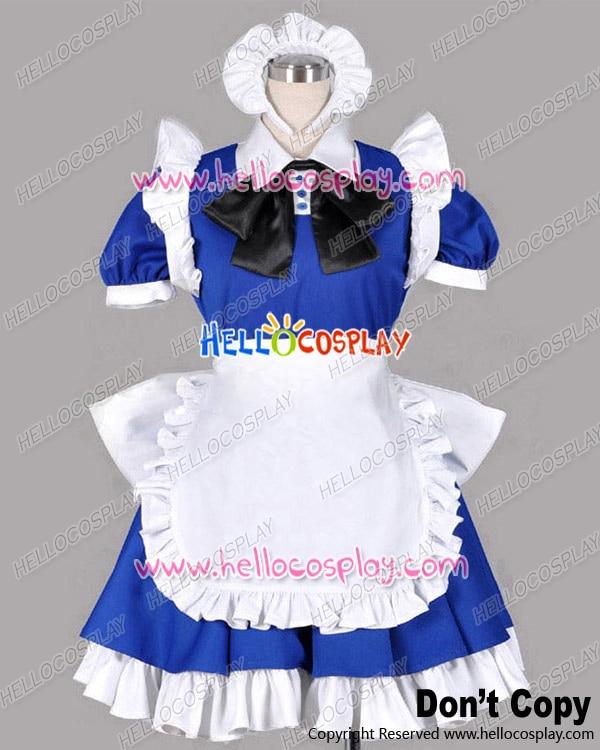 Touhou Project Cosplay Sakuya Izayoi Blue Maid Dress Costume H008
