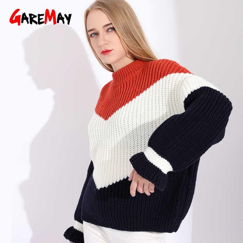 8112c92a7fd ... Свитер оверсайз Для женщин свитера и Модные пуловеры Вязание толстые  свитера для Для женщин грубая вязаный ...