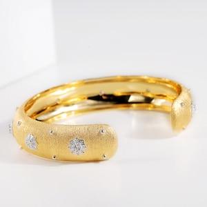Image 4 - CMajor pulsera de plata de ley con estrellas brillantes, brazalete de lujo, Estilo Vintage, palaciego, 13mm de ancho, dos tonos