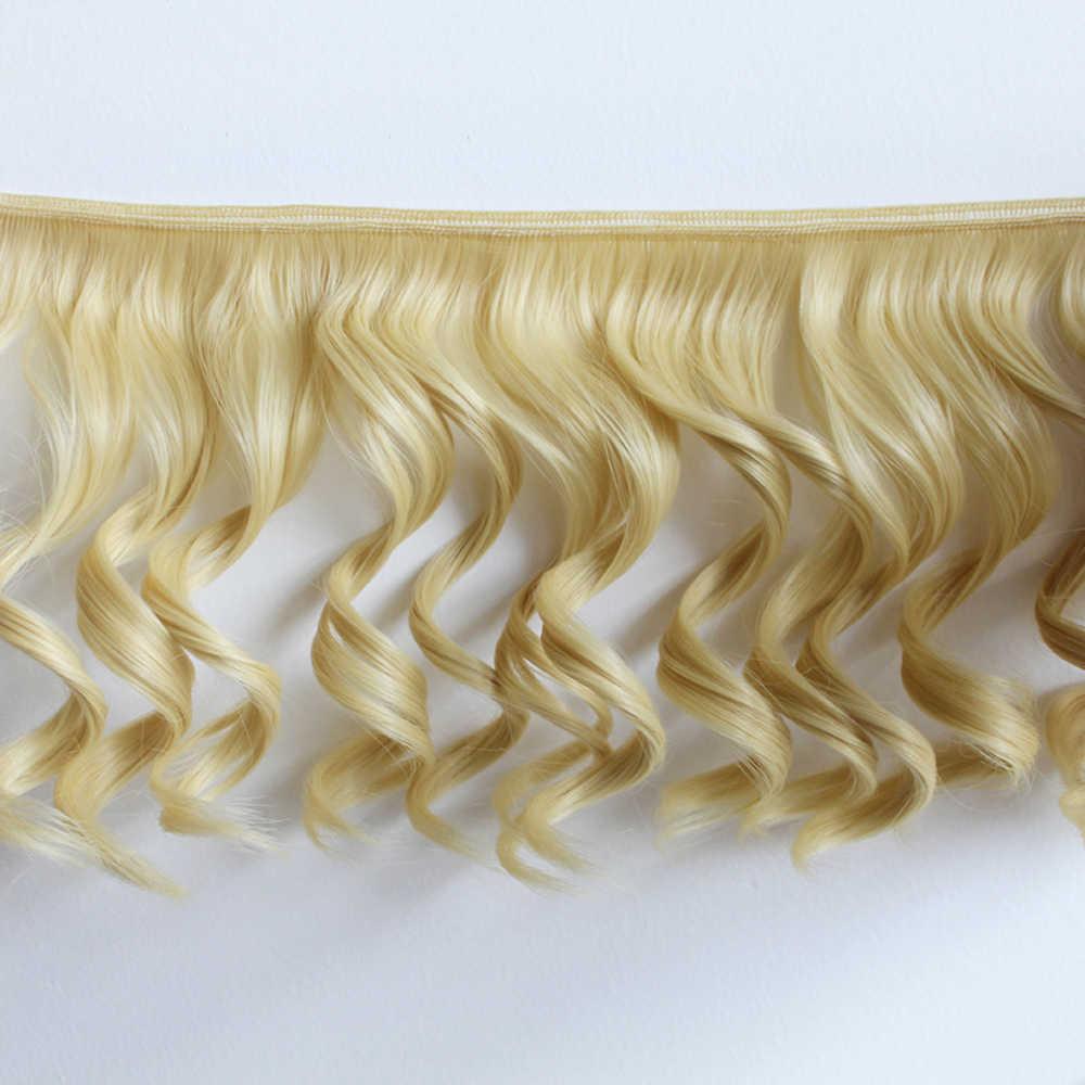 חדש DIY מיני תלתלי 20*100cm בובת פאת גל גדול בטמפרטורה גבוהה חומר שיער פאת BJD בובת אבזרים