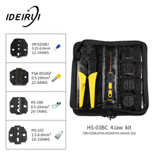 купить 4 In 1 Multi Wire Crimper Tools Kit  with Wire Stripper Screwdriver 4 Spare jaw Engineering Different Terminal Crimping Plier дешево