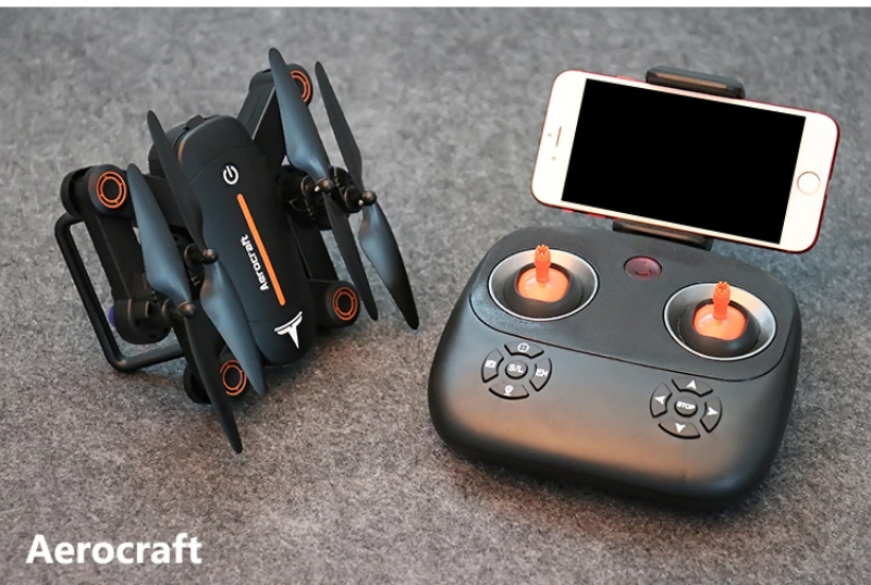 Mini WiFi FPV Foldable Pocket remote control rc Drone XS809W upgrade with HD camera with led light headless mode rc toy kid gift