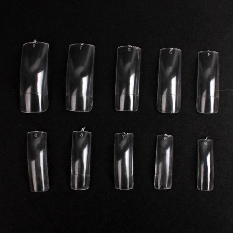 Hot sales salon diy natural acrylic nail tips full cover for Acrylic nail prices at a salon
