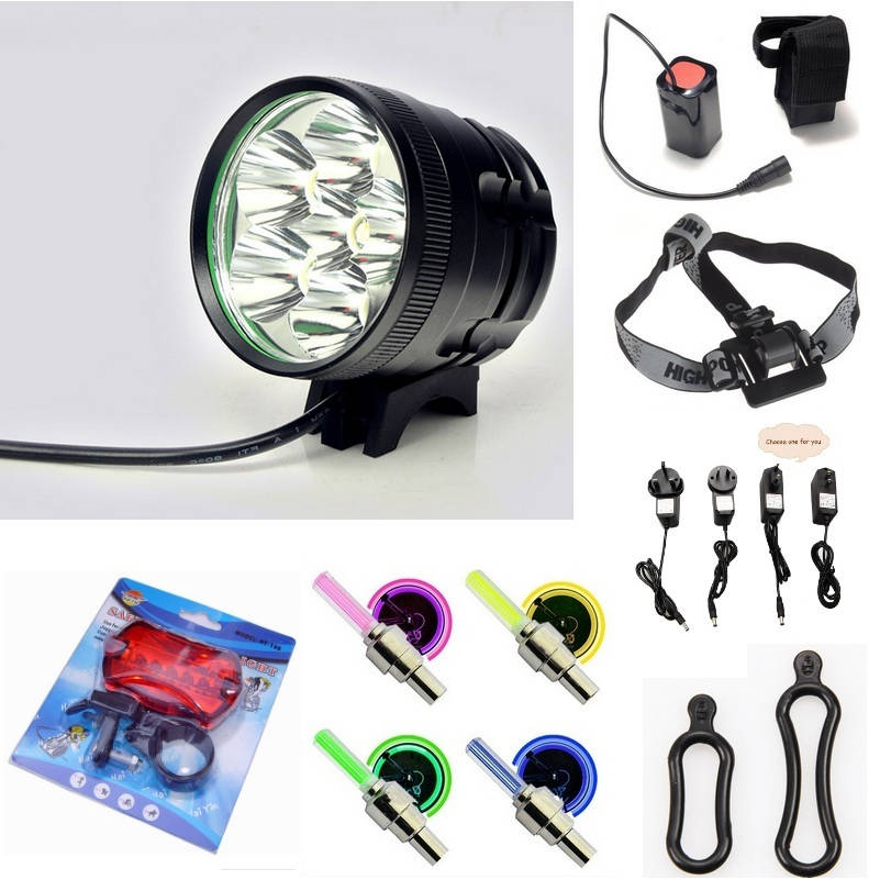 8000 Lumen 6T6 2 in 1 Cycling Bike Headlight Bicycle Front Light luz bicicleta + 6400mah 18650 battery pack+ charger+ rear light lp140wd2 tpb1 lp140wd2 tp b1 laptop led lcd screen 14 edp 30pin hd new