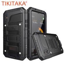 Doom Armor водонепроницаемый ударопрочный металлический чехол + силиконовые защитные чехлы для телефонов iPhone X XR XS Max 8 7 6 6S Plus, чехол