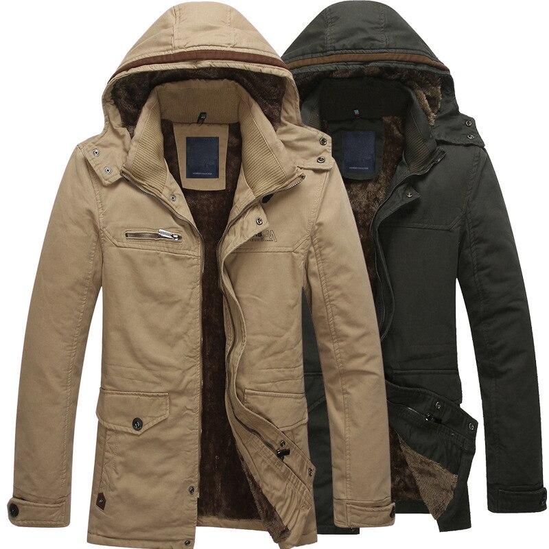 ФОТО Winter jacket men 2017 brand Fleece duck down jacket yellow parka winter new man casual outerwear Slim velvet Overcoat male coat