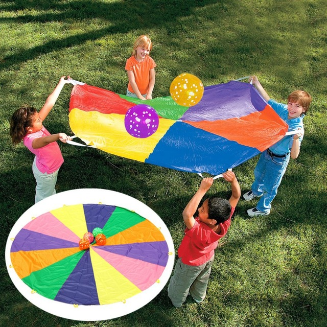 1set lot super sturdy parachute outdoor toys teamwork toys birthday