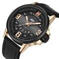 Homens Relógio de Luxo Da Marca Naviforce Moda Masculina Relógio de Pulso À Prova D' Água Relógio Do Esporte Ocasional Genuíno Couro de Quartzo Relógios de Negócios
