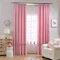 Cartoon Window Decoration For Kids Bedroom Cute Blackout Finished Curtain Fabric Tulle For Baby Girls Room