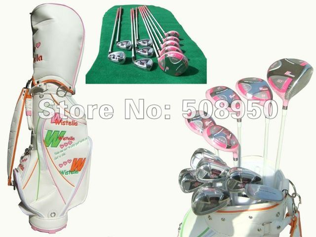 Free shipping golf,  complete golf club set with full clubs(3W+2UT+5I+1PT) & BAG 2012 New promotion