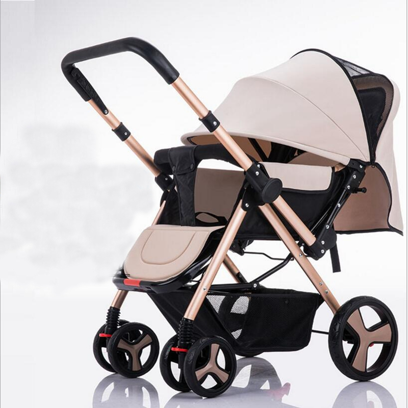 Two-way baby stroller light portable umbrella baby winter summer push can sit reclining folding 0-3 available, free shipping