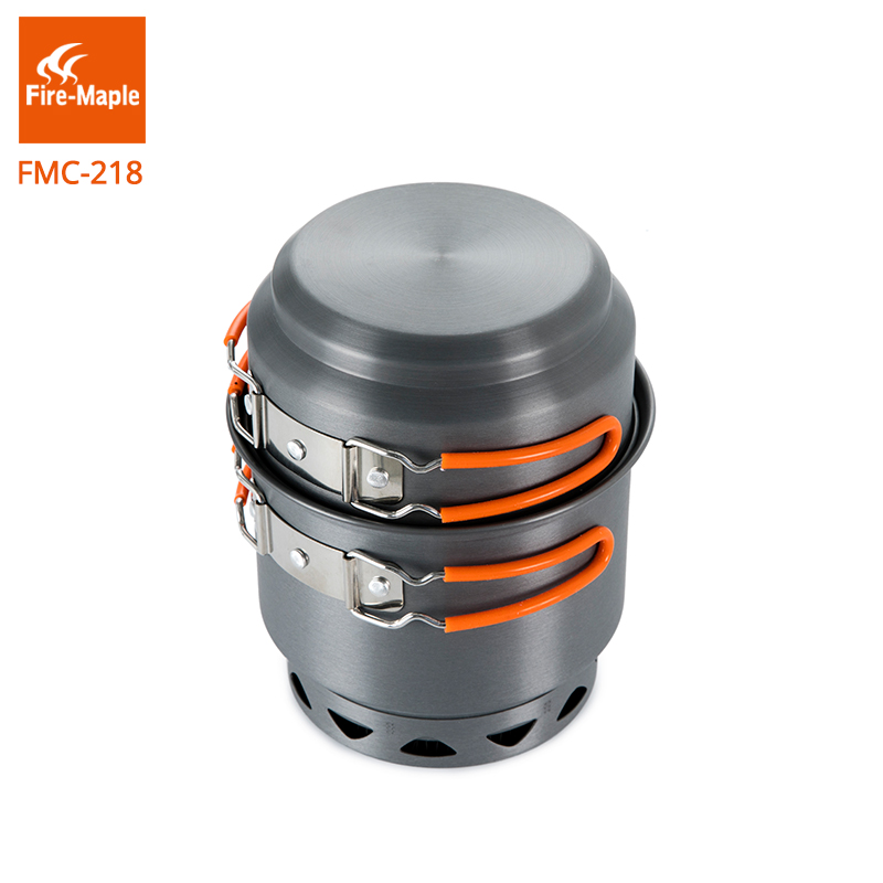 Fire Maple Cooking Cookware Camping Pots Set Outdoor Camping Foldable Heat Exchanger Aluminum Alloy for 2-3 Persons FMC-218