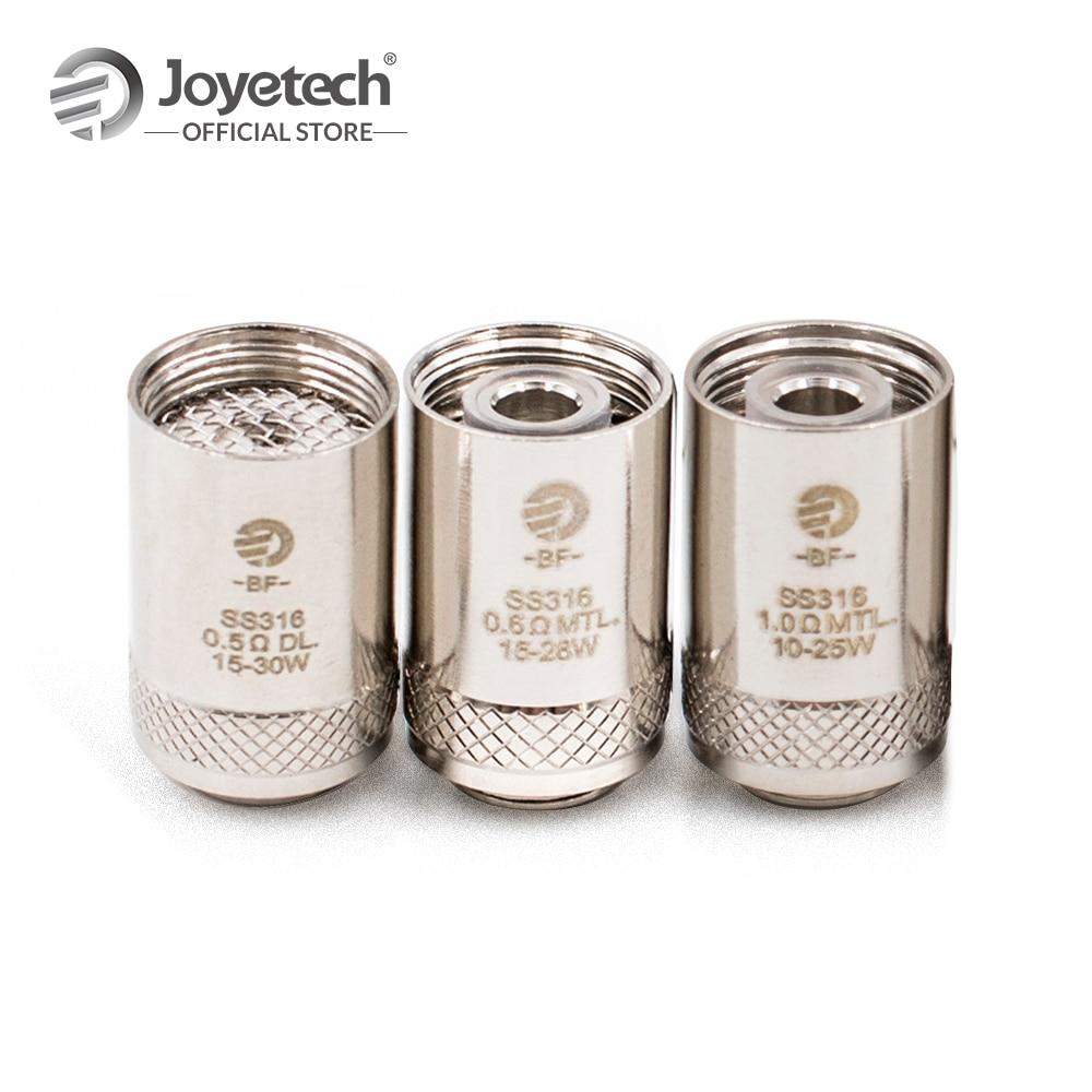 цена на Russian/USA Warehouse Original Joyetech BF SS316 Head For CUBIS/eGO AIO/Cuboid Mini in 0.5/0.6/1.0ohm Coil Electronic Cigarette