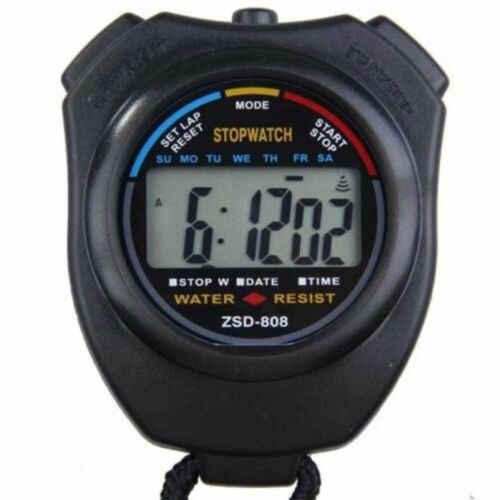 Chronomètre sportif de poche numérique chronomètre chronomètre horloge compteur d'alarme minuterie royaume-uni