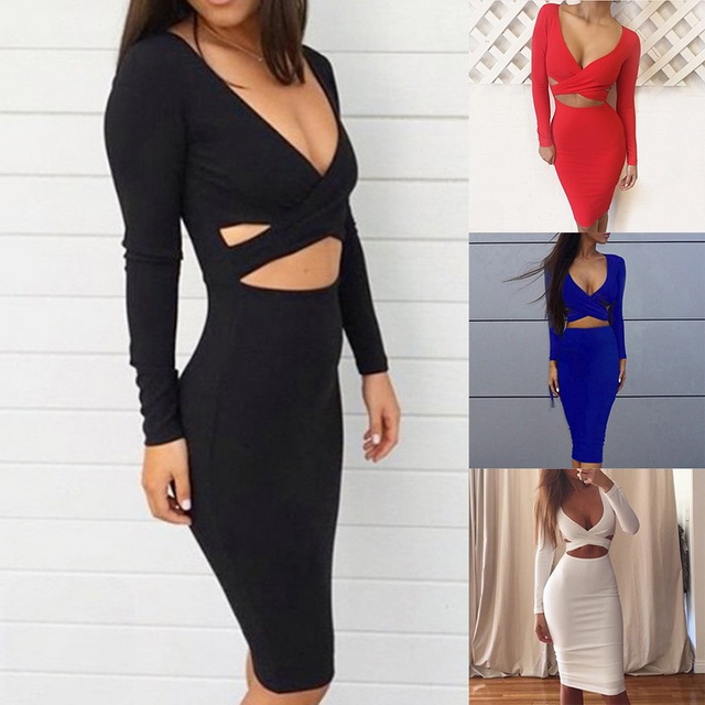 Lasperal Explosive Models Chest Exposed Umbilical Bandage Stretch Y Night Club Women S Party Dress 2018 Summer