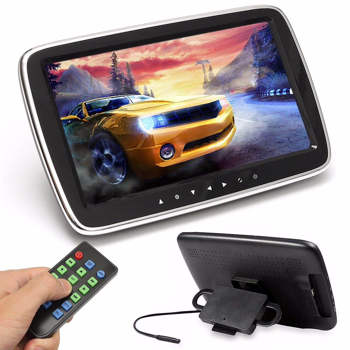 KROAK 9'' HD Digital LCD Screen Car Headrest Monitor Mount DVD Media Player USB SD MP5 мфу samsung xpress sl m2070