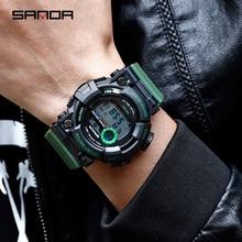 SANDA Sports Men's Watch Luxury LED Military Digital Watch Men's Waterproof G Style Sports Watch relogio masculino Clock