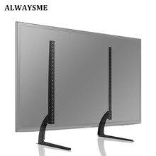 ALWAYSME, универсальная подставка для телевизора, сменная подставка для стола, крепление на пьедестал, подходит для 32-65 дюймов, ЖК-дисплей, светодиодный, плазменный, 110 фунтов, емкость VESA 800x500 м