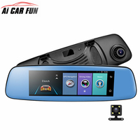 4G Car DVR 7.84 Touch Screen ADAS Remote Monitor Rear view mirror with DVR and camera Android 5.1 Dual lens 1080P WIFI dashcam