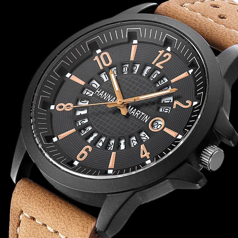 Relogios 2018 Watches Men Top Luxury Brand Fashion Creative Quartz Men Wrist Watch Leather Casual Waterproof Calendar Clock Male