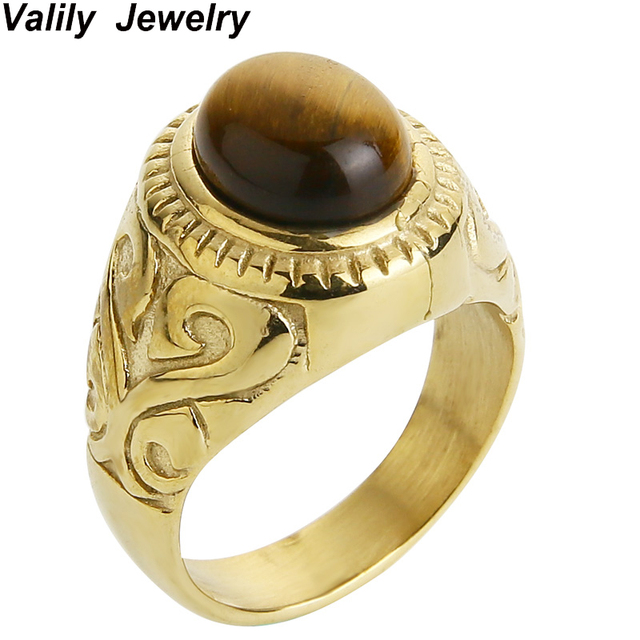 karat gold eye rings ring tiger yellow mens jewelry synthetic