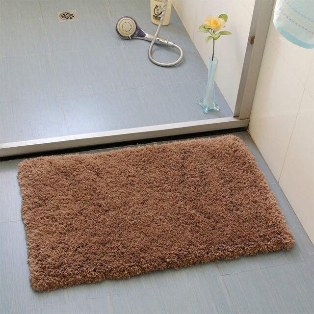 Rectangle Bathroom Mat Super Soft Pure Color Floor Mat Polyester Carpet  Outdoor Mat Anti Slip