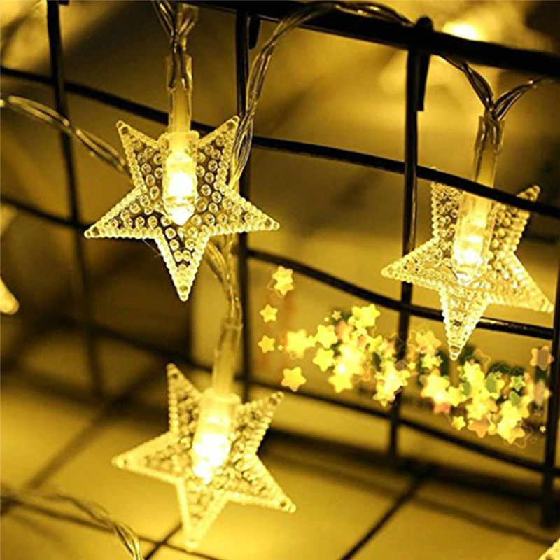 10Leds Christmas Tree Star Led String Fairy Light Xmas Party Home Wedding Garden Garland Christmas Led Lights Decoration in LED String from Lights Lighting