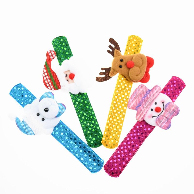 1pc Christmas Clap Circle Paillette Santa Claus Elk Snowman Bear Kids Adult Christmas Party Toy Accessories Xmas Decoration