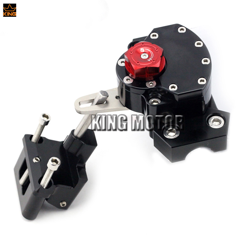 For KAWASAKI Z250 2013-2014 Z300 2015-2016 Motorcycle Accessories Steering Damper Stabilizer with Mounting Bracket kit Black for ktm 200 duke 2013 2015 390 duke 2014 2015 2016 motorcycle accessories steering damper stabilizer with mounting bracket kit