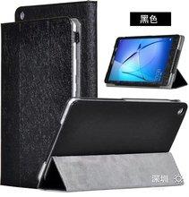 Para Huawei MediaPad T3 8.0 KOB-L09 KOB-W09 Seda Grano Cubierta de Cuero de LA PU Plegable Folio Case 8 pulgadas Tablet PC + stylus