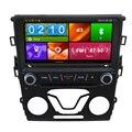 Sistema de Entretenimento Multimídia DVD Player do carro Para Ford Mondeo 2014 Com Navegação GPS Mapa Livre