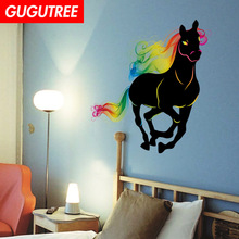 Decorate horse animal cartoon art wall sticker decoration Decals mural painting Removable Decor Wallpaper LF-1782