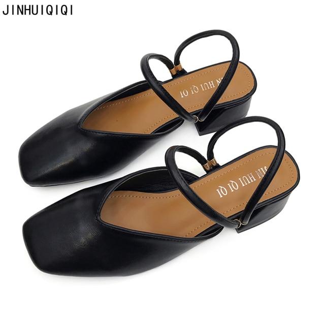 4cm Low Heel Pumps Comfortable Office Women Heels Fashion Black