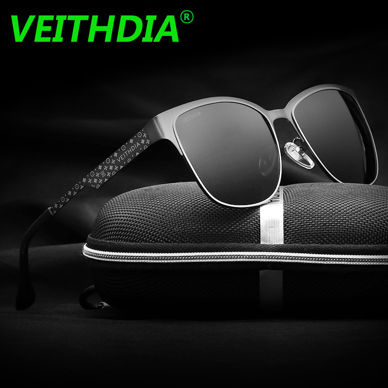 VEITHDIA Brand Stainless Steel Sun Glasses Polarized Blue Coating Mirror Driving Mens Su ...