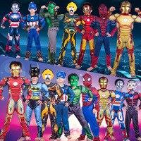 Movie SpiderMan Cosplay Christmas Boys Muscle Super Hero Captain America Costume SpiderMan Batman Hulk Avengers Costumes