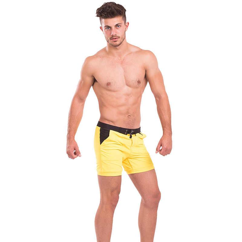 dd48e3727f ... Taddlee Brand Sexy Men's Swimwear Swimsuits Men Swim Boxer Briefs  Bikini Solid Basic Long Swimming Trunks ...