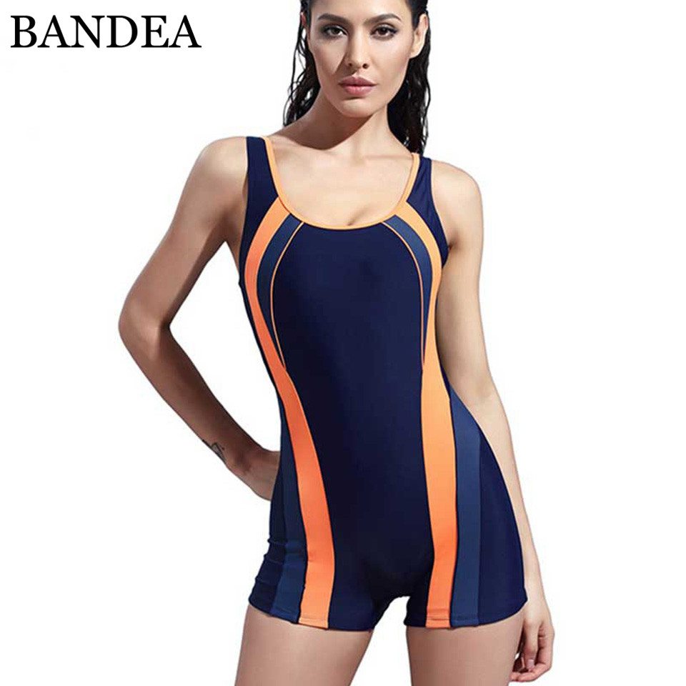Bandea One Piece Swimsuit Sports Quick Dry Swimwear Monokini Professional Wear Woman -3214